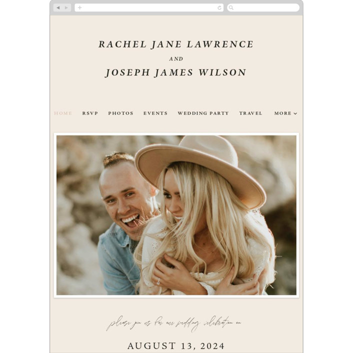 """Finally"" - Funny Wedding Websites in Ivory by Up Up Creative."