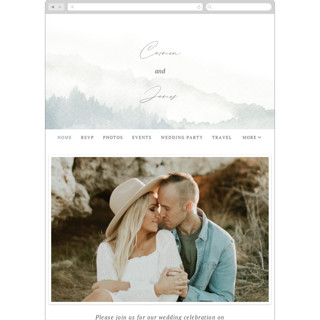 This is a blue wedding website by Helen Halik called Over the mountains printing on digital paper in standard.
