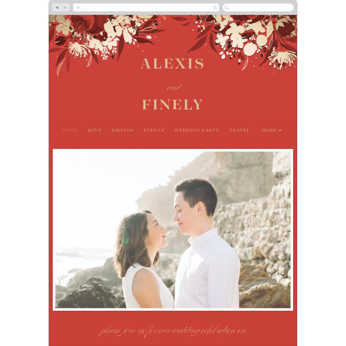 """""""Happiness"""" - Wedding Websites in Cherry by Shannon Chen."""
