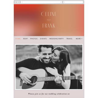 This is a orange wedding website by Simona Camp called Retro Grid printing on digital paper in standard.