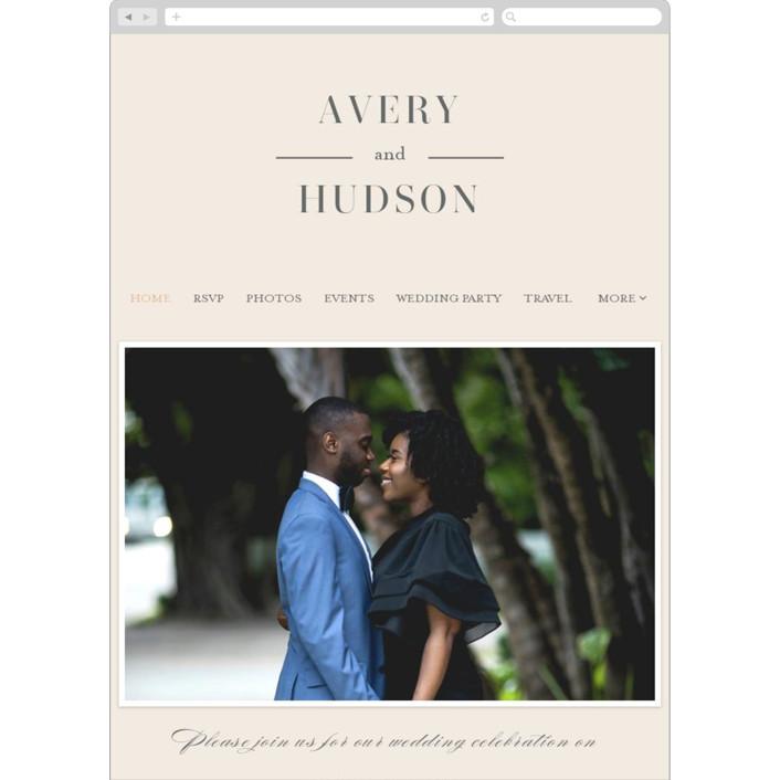 """""""Anson"""" - Wedding Websites in Latte by Kristie Kern."""