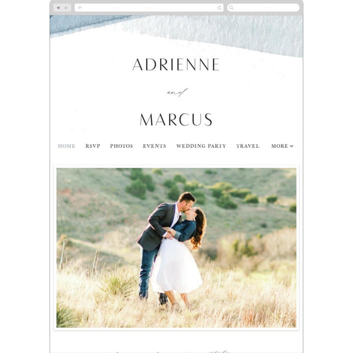 """Trio"" - Wedding Websites in Ocean by Erin L. Wilson."