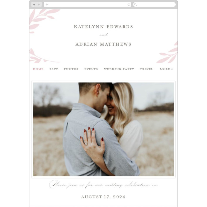 """""""Gathered"""" - Wedding Websites in Blossom by Kimberly FitzSimons."""
