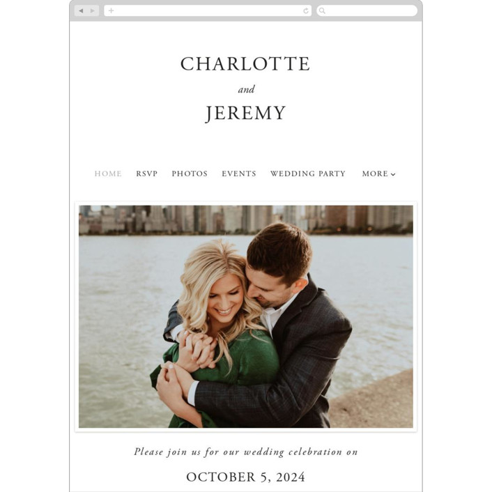 """""""Together With You"""" - Wedding Websites in Noir by Kimberly FitzSimons."""