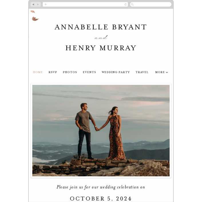 """""""Pirouette"""" - Rustic Wedding Websites in Noir by Kimberly FitzSimons."""