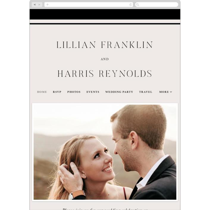 """""""Cambridge"""" - Wedding Websites in Tuxedo by Amy Kross."""