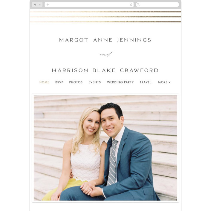 """Regent Edge"" - Wedding Websites in Cotton by Amy Kross."