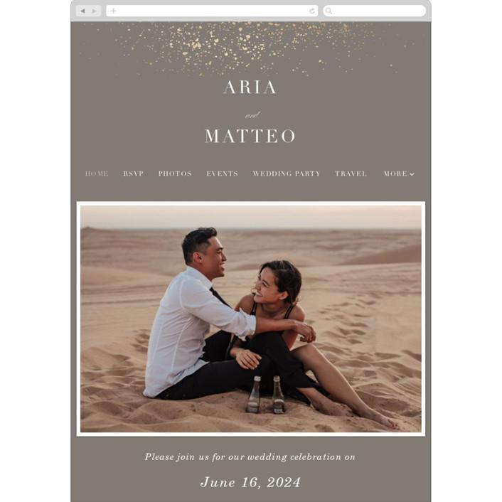 """""""Flecked Frame"""" - Bohemian Wedding Websites in Earthen by Erica Krystek."""