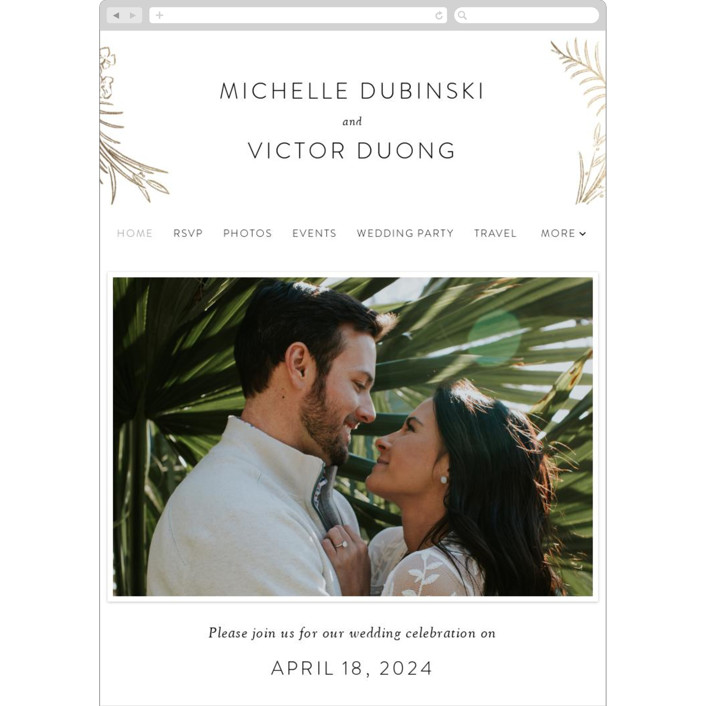 """Delicate Woodland"" - Wedding Websites in Silk by Shiny Penny Studio."