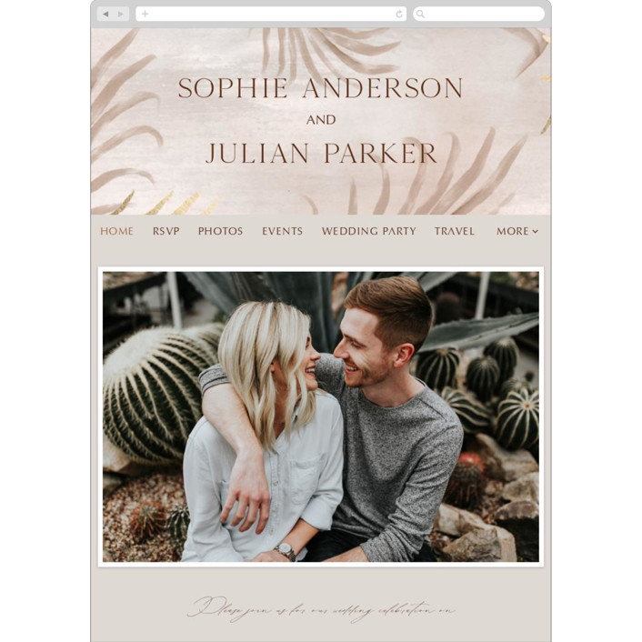 """""""Palm Springs"""" - Bohemian Wedding Websites in Sand by Elly."""