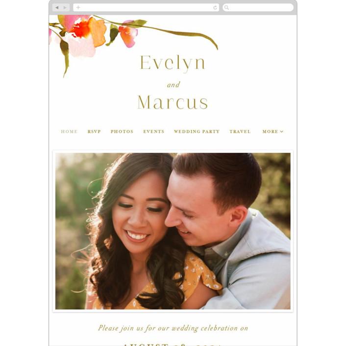 """colorwash floral"" - Wedding Websites in Blossom by Angela Marzuki."