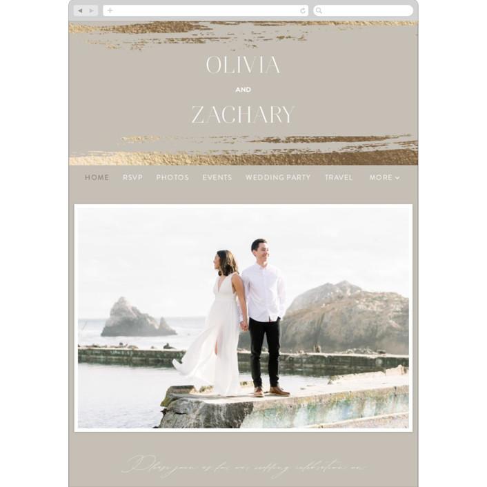 """True Love"" - Wedding Websites in Clay by Carolyn Nicks."