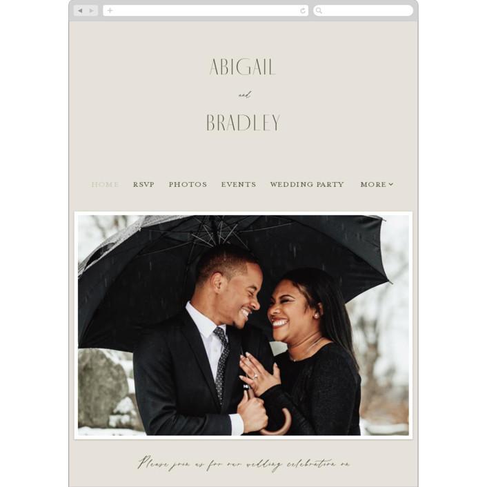 """Moderne"" - Wedding Websites in Graphite by Everett Paper Goods."