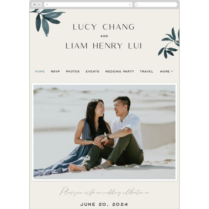 """""""Adore You"""" - Wedding Websites in Great Lakes by Design Lotus."""