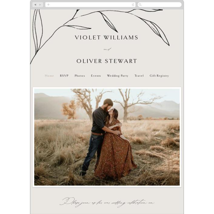 """""""Waldorf"""" - Wedding Websites in Taupe by Kelly Schmidt."""