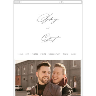 This is a white wedding website by Design Lotus called By Your Side printing on digital paper in standard.