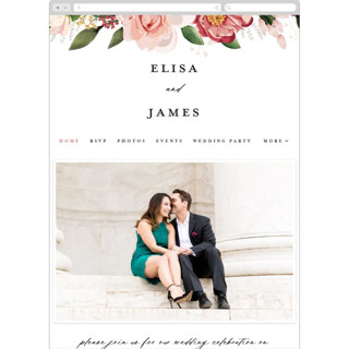 This is a pink wedding website by Susan Moyal called Blossom printing on digital paper in standard.