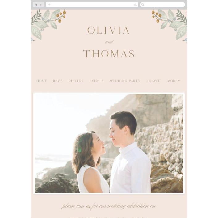 """""""Wild Flora"""" - Wedding Websites in Blossom by Kristen Smith."""