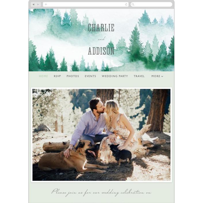 """""""Forest air"""" - Rustic Wedding Websites in Aqua by Yuliya Evseeva."""