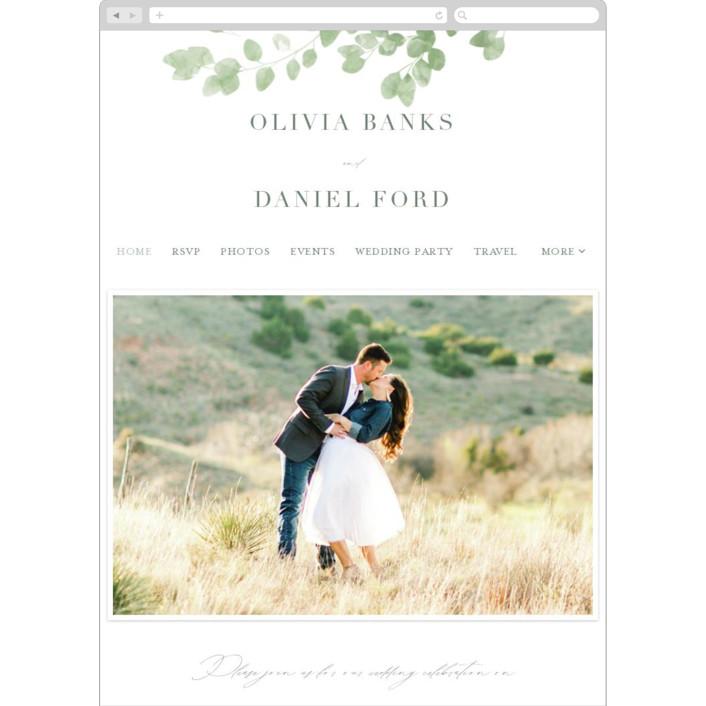"""Vining"" - Wedding Websites in Eucalyptus by Kristie Kern."