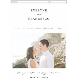 This is a white wedding website by chocomocacino called Blancmange printing on digital paper in standard.