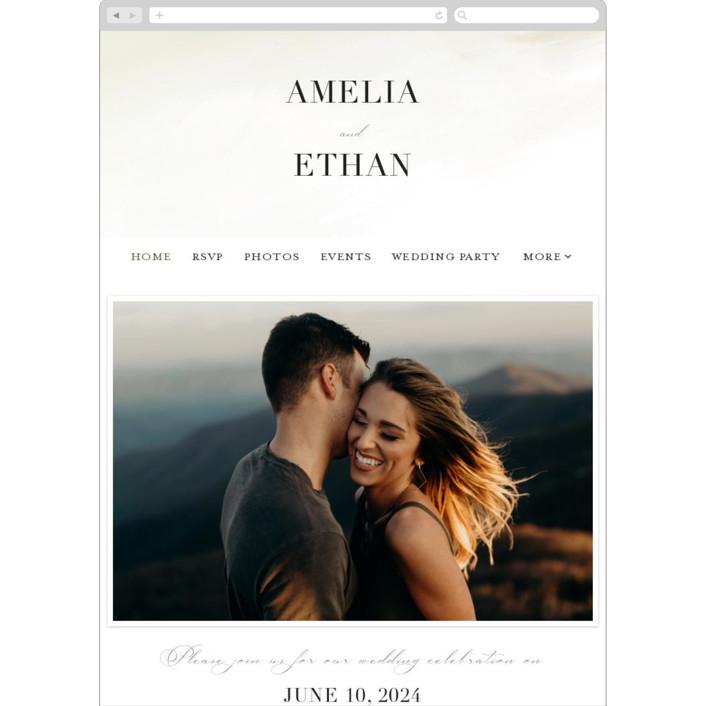 """Pastel Sky"" - Wedding Websites in Moss by Hannah Williams."