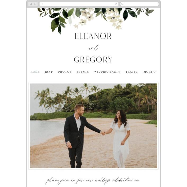 """Grove"" - Wedding Websites in Meadow by Everett Paper Goods."