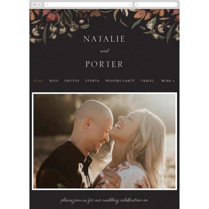 """Fall Garden Bouquet"" - Wedding Websites in Rust by Grace Kreinbrink."