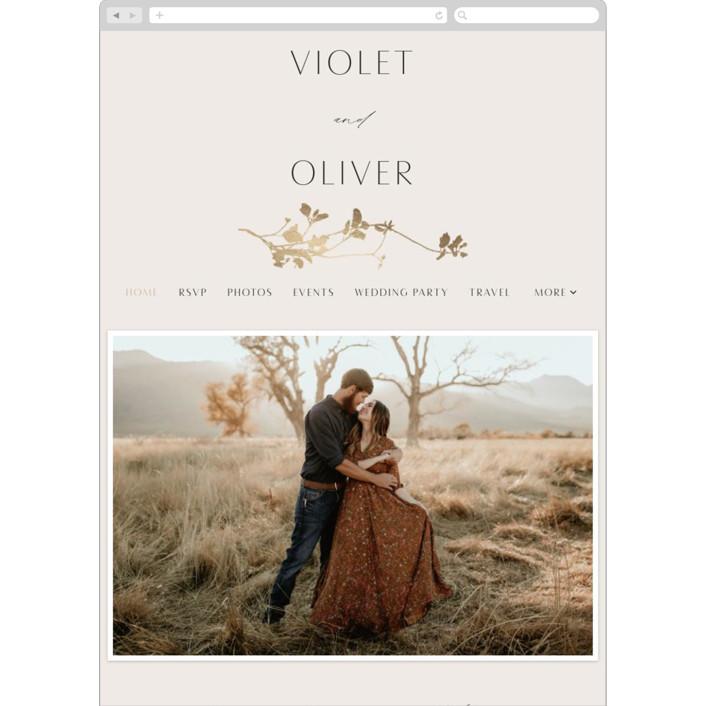 """Mist"" - Wedding Websites in Ivory by Kelly Schmidt."