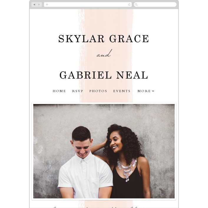 """Single Swath"" - Abstract, Modern Wedding Websites in Blush by Angela Marzuki."