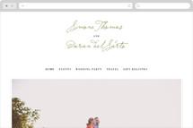Simple Olive Wedding Websites