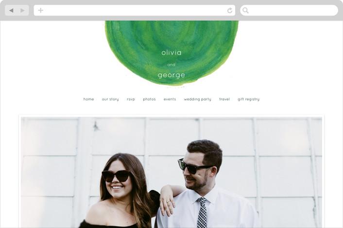 """""""Studio Modern"""" - Modern, Simple Wedding Websites in Kiwi by Sydney Newsom."""
