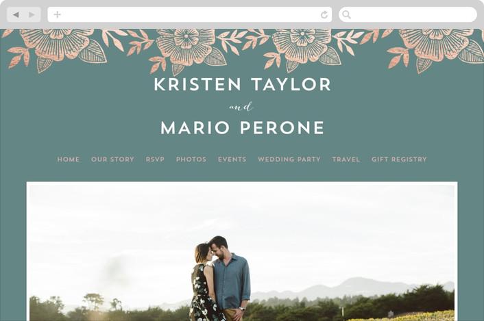 """Asher Floral"" - Floral & Botanical Wedding Websites in Sage by Katharine Watson."