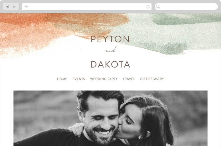 """Canyon"" - Modern, Abstract Wedding Websites in Sienna by Kelly Nasuta."
