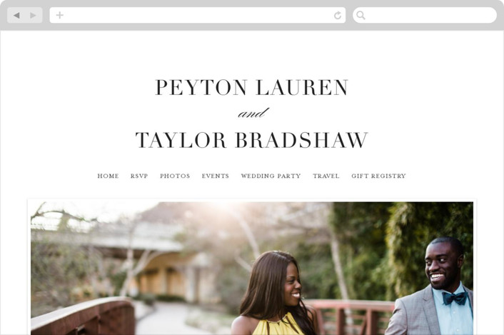 This is a black wedding website by Lauren Chism called Classic printing on digital paper.