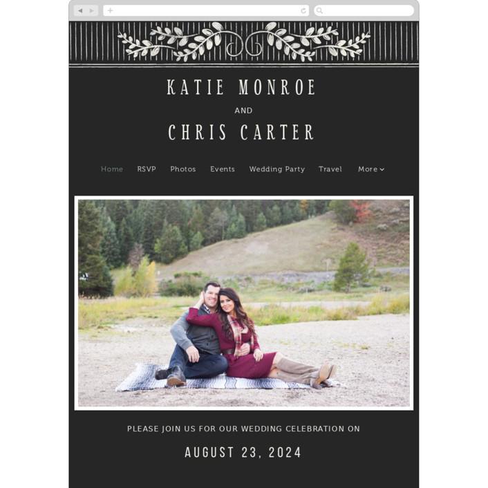 """Slated Forever"" - Wedding Websites in Chalkboard by GeekInk Design."