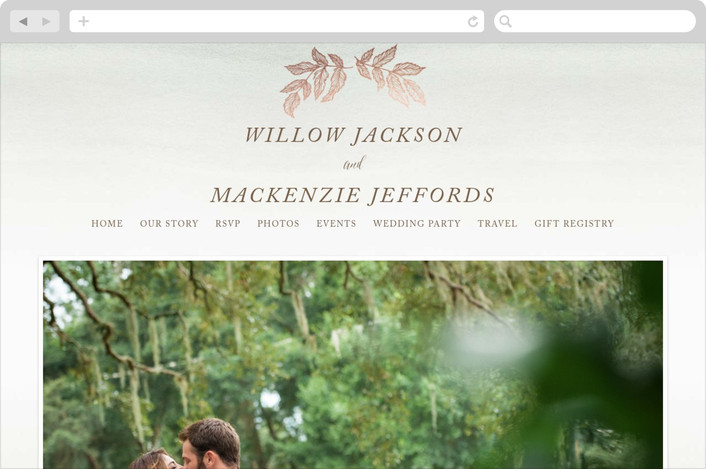 """Golden Forage"" - Wedding Websites in Sage by Wildfield Paper Co.."