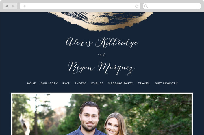 """Ponderosa"" - Wedding Websites in Starry by pandercraft."