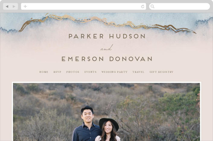 """Simple Agate"" - Wedding Websites in Cherry Blossom by Petra Kern."
