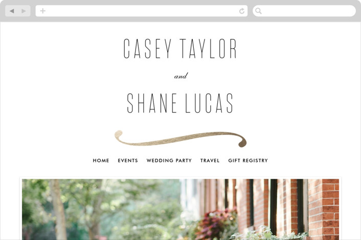 """Connected"" - Wedding Websites in Gold by Tim St. Clair."