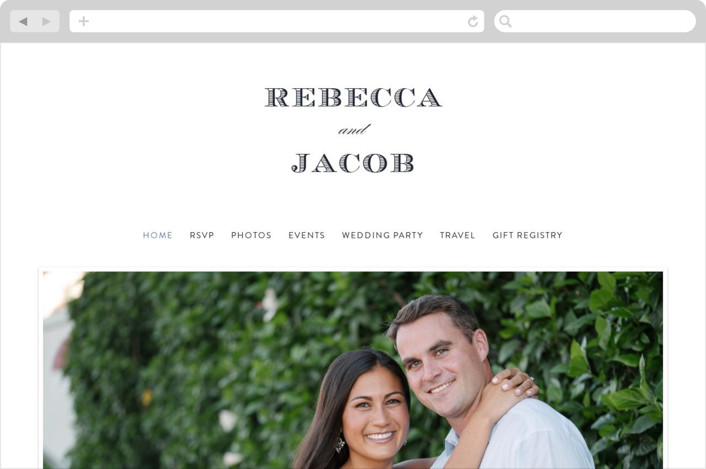 """Soiree"" - Wedding Websites in Soft Black by Sarah Brown."