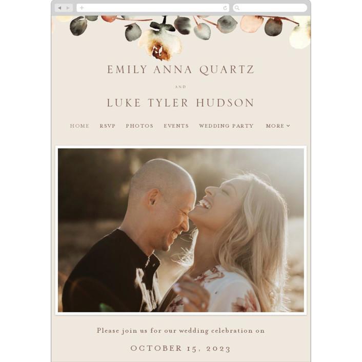 """Bella Mia"" - Wedding Websites in Autumn by Petra Kern."