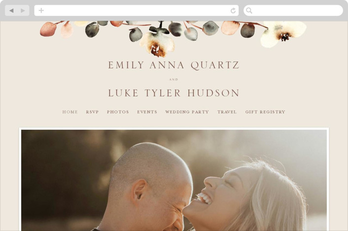 This is a brown wedding website by Petra Kern called Bella Mia printing on digital paper.