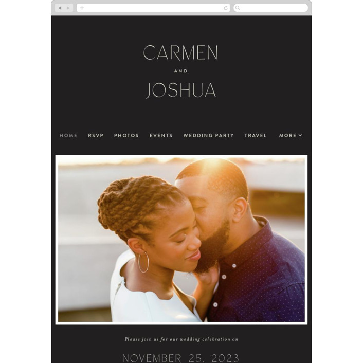 """Harmony"" - Wedding Websites in Noir by Nazia Hyder."