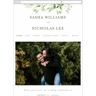 This is a green wedding website by Leah Bisch called Verdure printing on digital paper in standard.