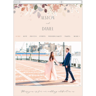 This is a pink wedding website by Jennifer Wick called Golden Hour printing on digital paper.