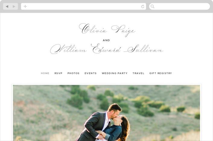 """Elegant Crest"" - Wedding Websites in Stone by Ariel Rutland."