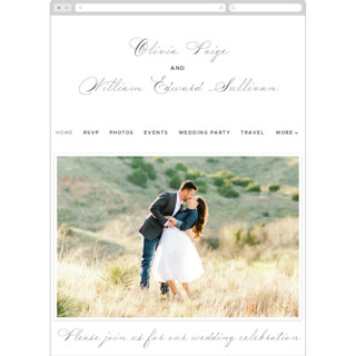 This is a grey wedding website by Ariel Rutland called Elegant Crest printing on digital paper.
