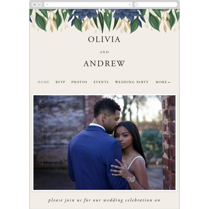"""Ophelia's Garden"" - Wedding Websites in Bluebell by Oma N. Ramkhelawan."