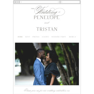 This is a grey wedding website by chocomocacino called calisson printing on digital paper.